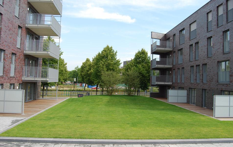 """Begrünung der Tiefgarage Apartmenthauses """"De Hoge Dries"""" im niederländischen Apeldoorn"""