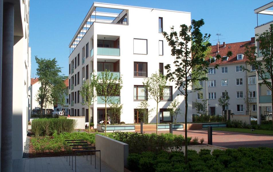 Dachbegrüng der Tiefgarage der Wohnanlage Krausenstraße in Hannover