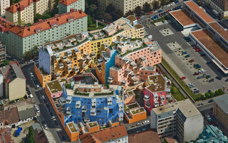 Dachbegrünung der Wohnanlage Buchengasse in Wien