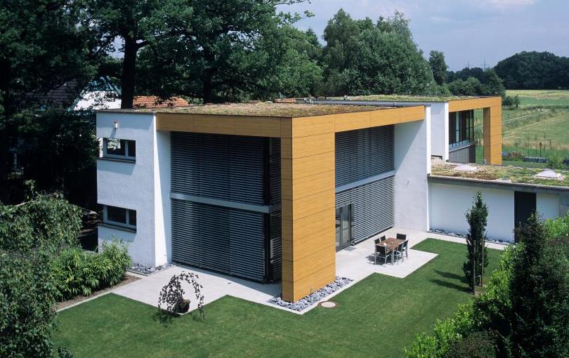 Extensive Dachbegrünung des Wohnhause der Familie Beckmann