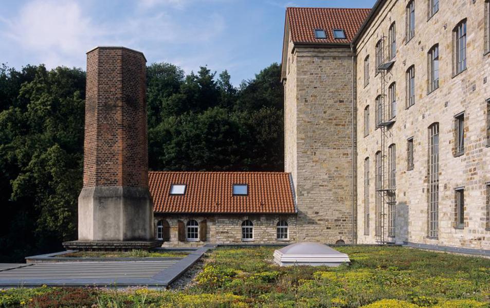 Dachbegrünung der Lippen-Mühle im nordrhein-westfälischen Borchen