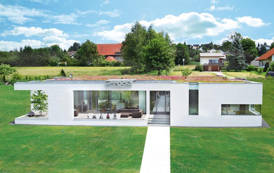 Dachbegrünung eines privaten Wohnhauses in Ertingen