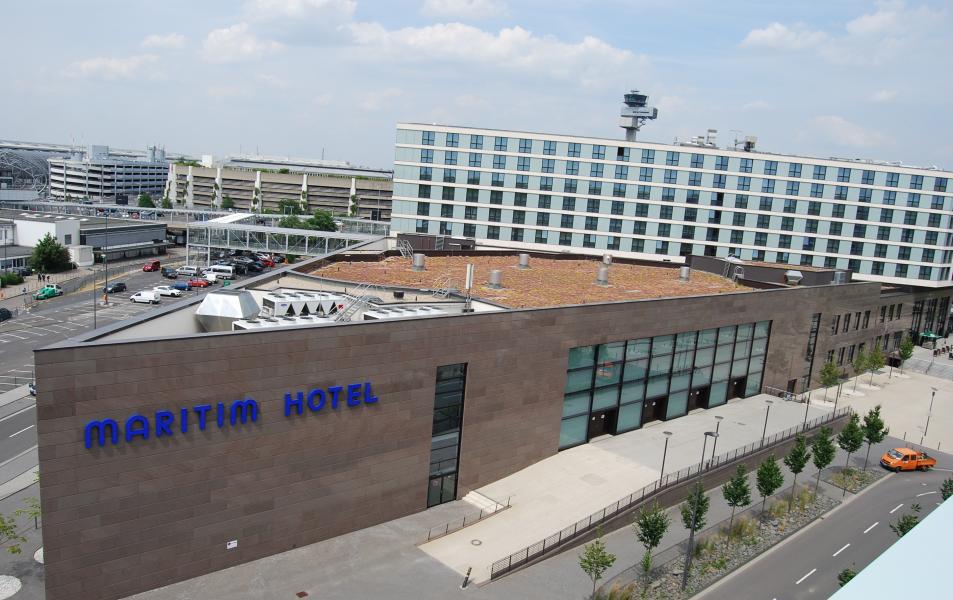 Dachbegrünung des Maritim Hotels in Düsseldorf