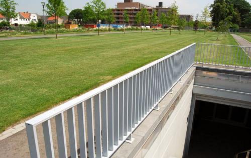 Dachbegrünung der Tiefgarage Oda Parking im niederländischen Sittard