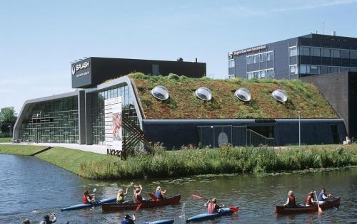 Schrägdachbegrünung der Akademie für Leibeserziehung der Fachhochschule Amsterdam