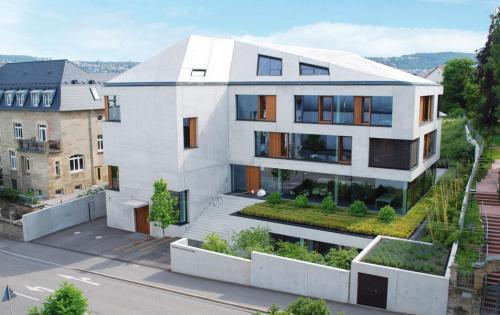 Gründach des Architekturbüros Blocher Partners in Stuttgart